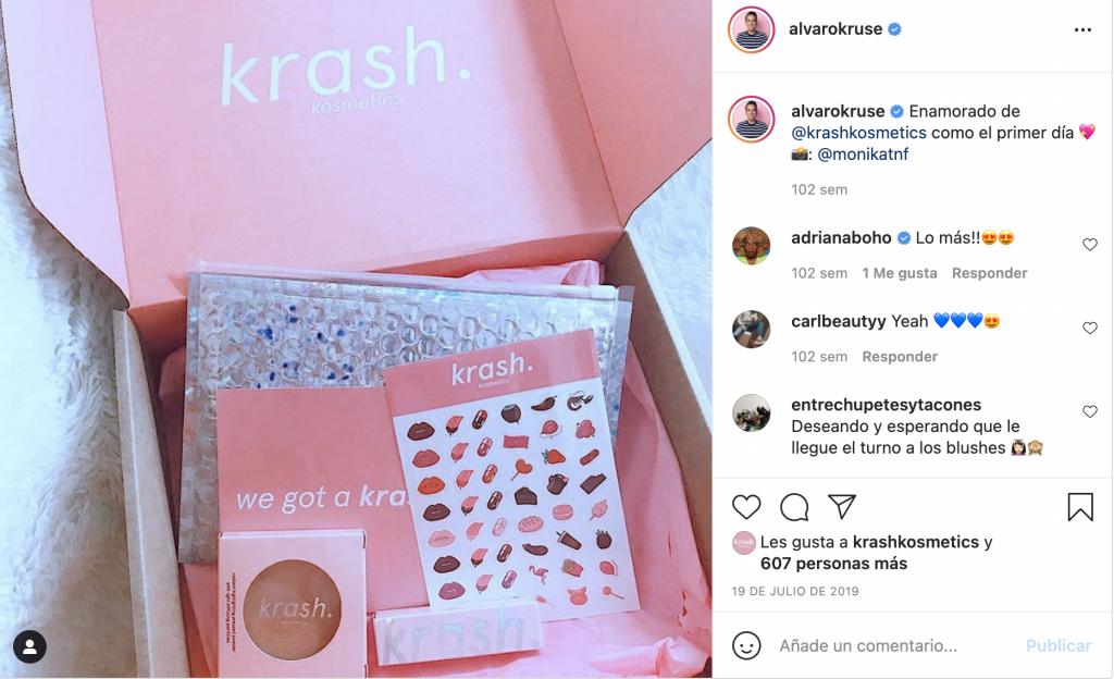 unboxing influencer en Instagram